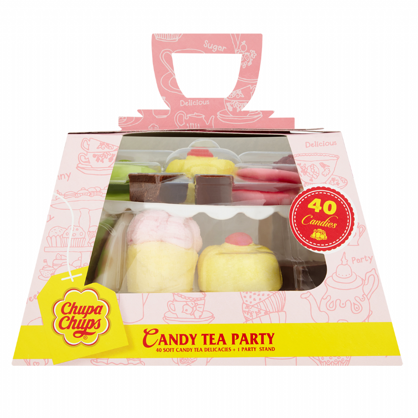 Candy Tea Party Cakes Stand Gift Box Chupa Chups Assorted Jelly Candies Sweets 280g